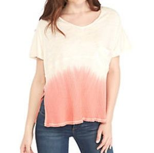 Free People Sundial Dip Dye Thermal Tee